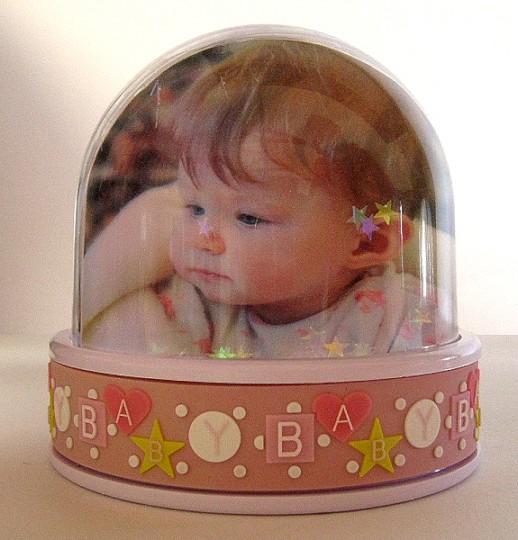 Personalised Baby Girl Snow Globe